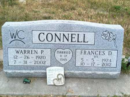 CONNELL, WARREN P. - Dawes County, Nebraska | WARREN P. CONNELL - Nebraska Gravestone Photos
