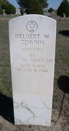 CORBIN, DELBERT W. - Dawes County, Nebraska | DELBERT W. CORBIN - Nebraska Gravestone Photos