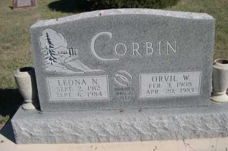 CORBIN, ORVIL W. - Dawes County, Nebraska   ORVIL W. CORBIN - Nebraska Gravestone Photos