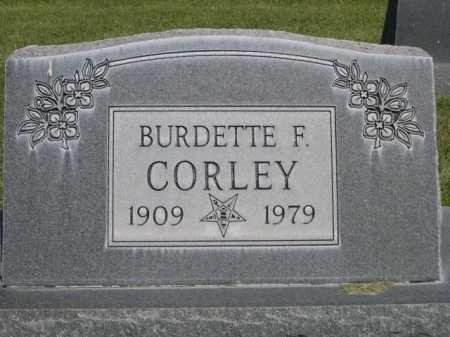 CORLEY, BURDETTE F. - Dawes County, Nebraska | BURDETTE F. CORLEY - Nebraska Gravestone Photos