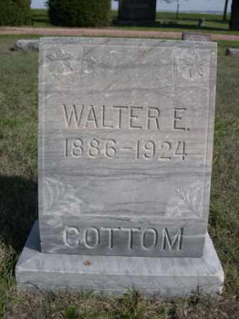 COTTOM, WALTER E. - Dawes County, Nebraska | WALTER E. COTTOM - Nebraska Gravestone Photos