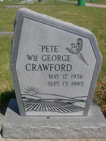"CRAWFORD, ""PETE"" WM. GEORGE - Dawes County, Nebraska | ""PETE"" WM. GEORGE CRAWFORD - Nebraska Gravestone Photos"