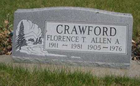 CRAWFORD, FLORENCE T. - Dawes County, Nebraska | FLORENCE T. CRAWFORD - Nebraska Gravestone Photos