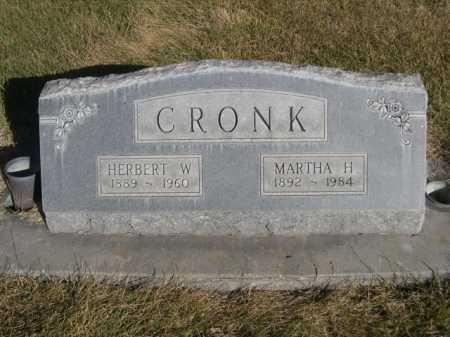 CRONK, MARTHA H. - Dawes County, Nebraska | MARTHA H. CRONK - Nebraska Gravestone Photos
