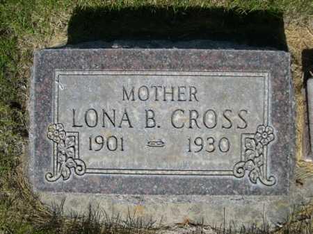 CROSS, LONA B. - Dawes County, Nebraska | LONA B. CROSS - Nebraska Gravestone Photos
