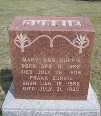 CURRIE, MARY ANN - Dawes County, Nebraska | MARY ANN CURRIE - Nebraska Gravestone Photos