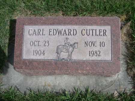 CUTLER, CARL EDWARD - Dawes County, Nebraska | CARL EDWARD CUTLER - Nebraska Gravestone Photos
