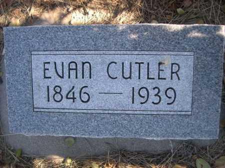 CUTLER, EVAN - Dawes County, Nebraska | EVAN CUTLER - Nebraska Gravestone Photos