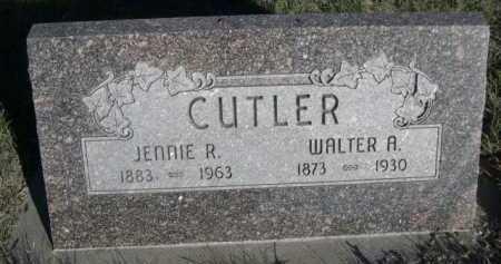 CUTLER, WALTER A - Dawes County, Nebraska | WALTER A CUTLER - Nebraska Gravestone Photos