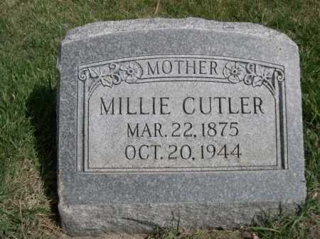 CUTLER, MILLIE - Dawes County, Nebraska | MILLIE CUTLER - Nebraska Gravestone Photos