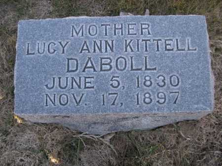 DABOLL, LUCY ANN KITTELL - Dawes County, Nebraska | LUCY ANN KITTELL DABOLL - Nebraska Gravestone Photos