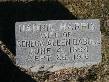 DABOLL, NANNIE HARRIS - Dawes County, Nebraska | NANNIE HARRIS DABOLL - Nebraska Gravestone Photos