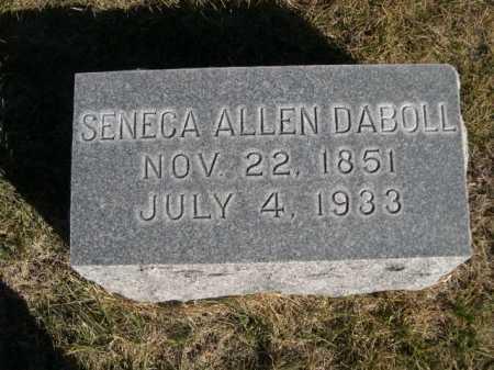 DABOLL, SENECA ALLEN - Dawes County, Nebraska | SENECA ALLEN DABOLL - Nebraska Gravestone Photos