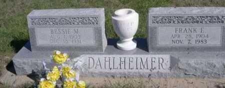 DAHLHEIMER, BESSIE M. - Dawes County, Nebraska   BESSIE M. DAHLHEIMER - Nebraska Gravestone Photos