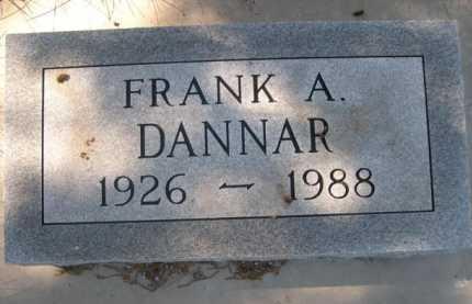 DANNAR, FRANK A. - Dawes County, Nebraska   FRANK A. DANNAR - Nebraska Gravestone Photos