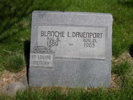 DAVENPORT, BLANCH L. - Dawes County, Nebraska | BLANCH L. DAVENPORT - Nebraska Gravestone Photos