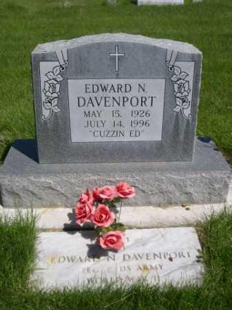 DAVENPORT, EDWARD N. - Dawes County, Nebraska | EDWARD N. DAVENPORT - Nebraska Gravestone Photos