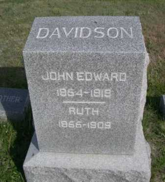 DAVIDSON, JOHN EDWARD - Dawes County, Nebraska | JOHN EDWARD DAVIDSON - Nebraska Gravestone Photos