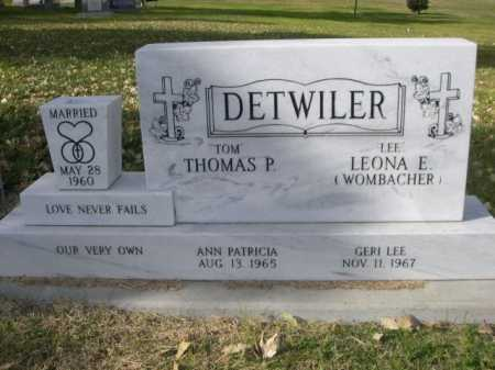 "WOMBACHER DETWILER, LEONA E. "" LEE"" - Dawes County, Nebraska | LEONA E. "" LEE"" WOMBACHER DETWILER - Nebraska Gravestone Photos"