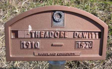 DEWITT, THEADORE - Dawes County, Nebraska | THEADORE DEWITT - Nebraska Gravestone Photos