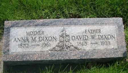 DIXON, DAVID W. - Dawes County, Nebraska | DAVID W. DIXON - Nebraska Gravestone Photos