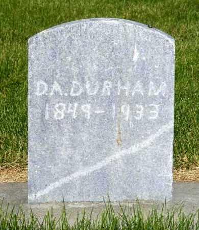 DURHAM, DAVID A. - Dawes County, Nebraska   DAVID A. DURHAM - Nebraska Gravestone Photos