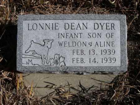 DYER, LONNIE DEAN - Dawes County, Nebraska | LONNIE DEAN DYER - Nebraska Gravestone Photos