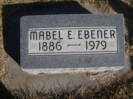 EBENER, MABEL E. - Dawes County, Nebraska | MABEL E. EBENER - Nebraska Gravestone Photos