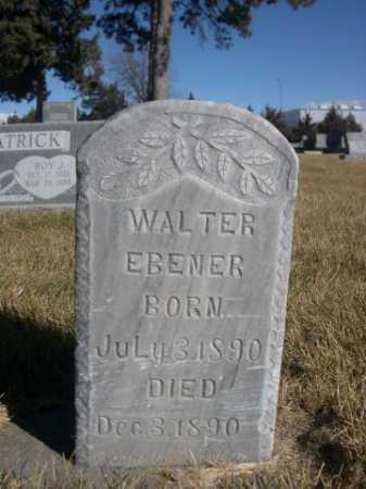 EBENER, WALTER - Dawes County, Nebraska   WALTER EBENER - Nebraska Gravestone Photos