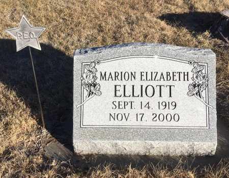 ELLIOTT, MARION ELIZABETH - Dawes County, Nebraska | MARION ELIZABETH ELLIOTT - Nebraska Gravestone Photos