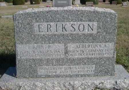 ERIKSON, ALBERTINA A. - Dawes County, Nebraska | ALBERTINA A. ERIKSON - Nebraska Gravestone Photos