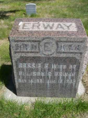 ERWAY, BESSIE E. - Dawes County, Nebraska | BESSIE E. ERWAY - Nebraska Gravestone Photos