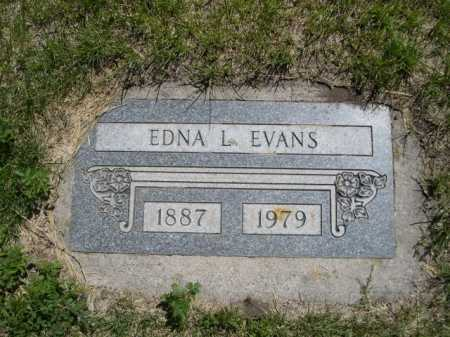 EVANS, EDNA L. - Dawes County, Nebraska | EDNA L. EVANS - Nebraska Gravestone Photos