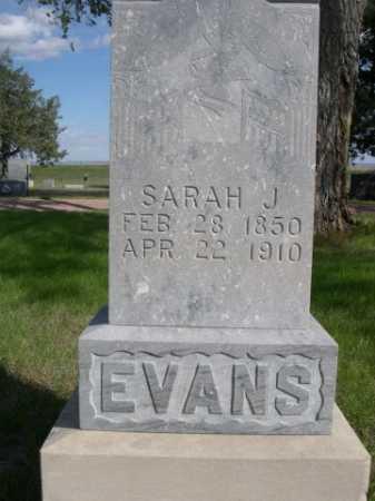 EVANS, SARAH J. - Dawes County, Nebraska | SARAH J. EVANS - Nebraska Gravestone Photos