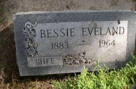 EVELAND, BESSIE - Dawes County, Nebraska | BESSIE EVELAND - Nebraska Gravestone Photos