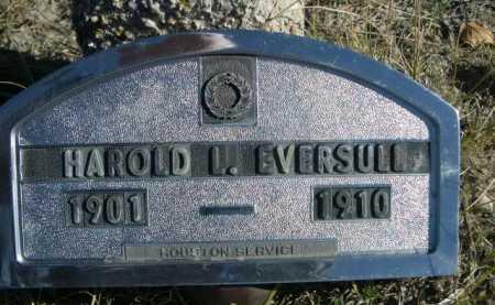 EVERSULL, HAROLD L. - Dawes County, Nebraska | HAROLD L. EVERSULL - Nebraska Gravestone Photos