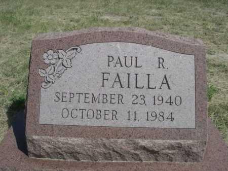 FAILLA, PAUL R. - Dawes County, Nebraska   PAUL R. FAILLA - Nebraska Gravestone Photos