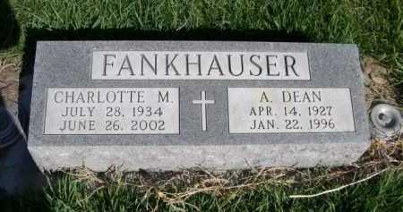 FANKHAUSER, A. DEAN - Dawes County, Nebraska | A. DEAN FANKHAUSER - Nebraska Gravestone Photos
