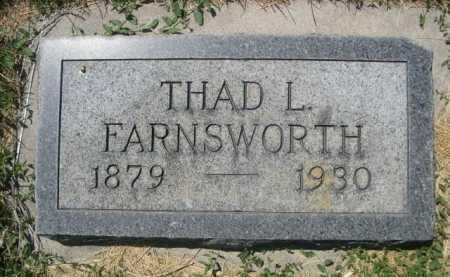 FARNSWORTH, THAD L. - Dawes County, Nebraska | THAD L. FARNSWORTH - Nebraska Gravestone Photos