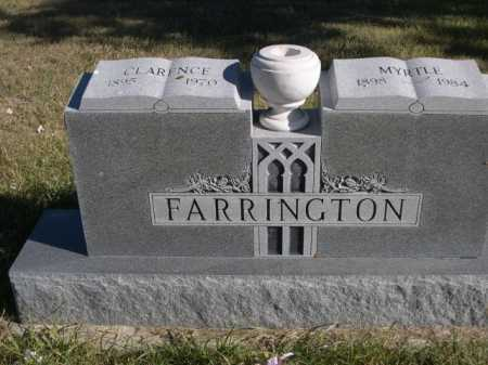 FARRINGTON, CLARENCE - Dawes County, Nebraska | CLARENCE FARRINGTON - Nebraska Gravestone Photos