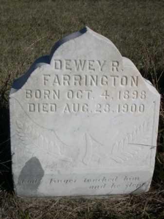 FARRINGTON, DEWEY R. - Dawes County, Nebraska   DEWEY R. FARRINGTON - Nebraska Gravestone Photos