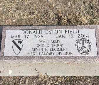 FIELD, DONALD ESTON - Dawes County, Nebraska   DONALD ESTON FIELD - Nebraska Gravestone Photos