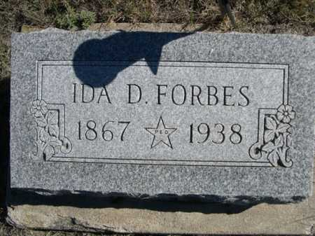 FORBES, IDA D. - Dawes County, Nebraska | IDA D. FORBES - Nebraska Gravestone Photos