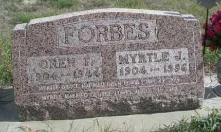 FORBES, MYRTLE J. - Dawes County, Nebraska | MYRTLE J. FORBES - Nebraska Gravestone Photos