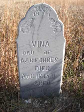 FORBES, VINA - Dawes County, Nebraska   VINA FORBES - Nebraska Gravestone Photos