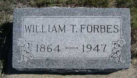 FORBES, WILLIAM T. - Dawes County, Nebraska | WILLIAM T. FORBES - Nebraska Gravestone Photos