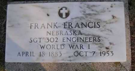 FRANCIS, FRANK - Dawes County, Nebraska   FRANK FRANCIS - Nebraska Gravestone Photos