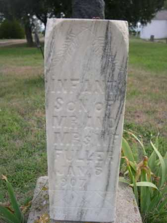 FULLER, INFANT SON OF - Dawes County, Nebraska | INFANT SON OF FULLER - Nebraska Gravestone Photos