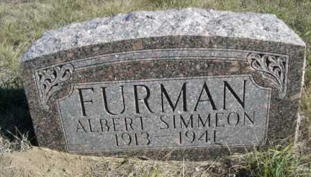 FURMAN, ALBERT SIMMEON - Dawes County, Nebraska | ALBERT SIMMEON FURMAN - Nebraska Gravestone Photos