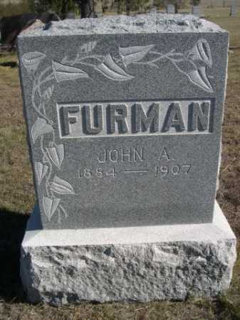 FURMAN, JOHN A. - Dawes County, Nebraska | JOHN A. FURMAN - Nebraska Gravestone Photos